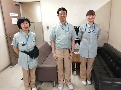 西新宿のオフィスビルで朝10時迄の日常清掃です。コロナ対策も万全です。